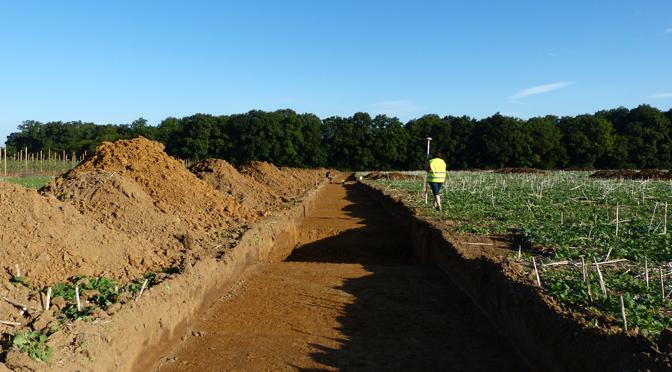 Sondages archéologiques à Villevenard (Marne)